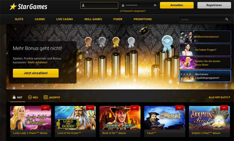 Stargames Casino Screenshot